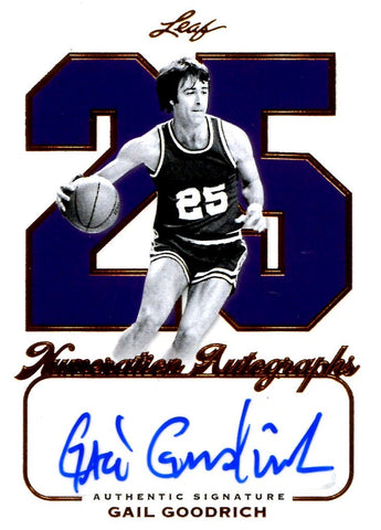 Gail Goodrich 2012 Leaf Numeration Autographs Signed Card #22/25