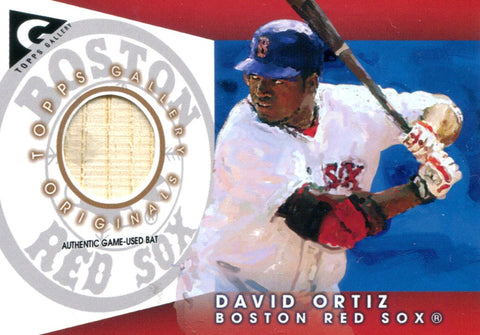 David Ortiz Topps Wood Bat Card