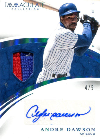 Andre Dawson Autographed Panini Card #4/5