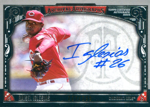 Raisel Iglesias Autographed Topps Card #227/299