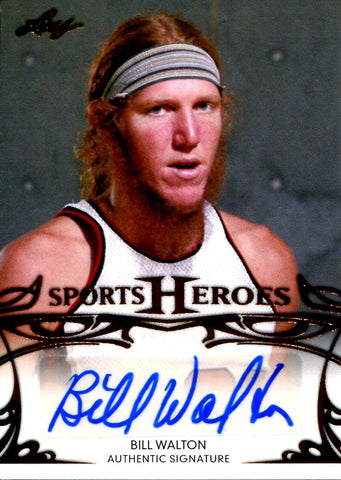 Bill Walton 2013 Leaf Sports Heroes Autographed Card