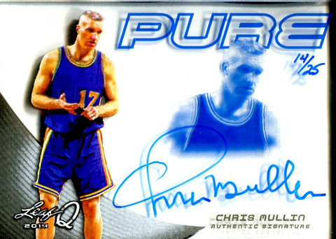 Chris Mullin 2014 Leaf Pure Autographed Card #14/25