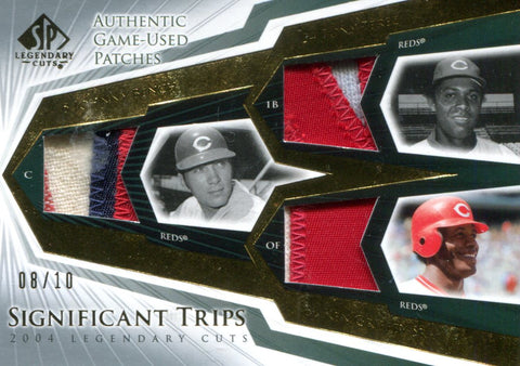 Johnny Bench, Tony Perez, Ken Griffey Sr. Upper Deck Jersey Card #8/10