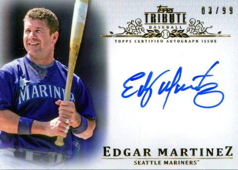 Edgar Martinez Autographed Topps Card #3/99