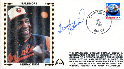 Frank Robinson Autographed April 29, 1988 First Day Cover (JSA)