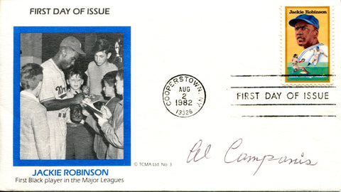 Al Campanis Autographed Aug 2, 1982 First Day Cover (JSA)