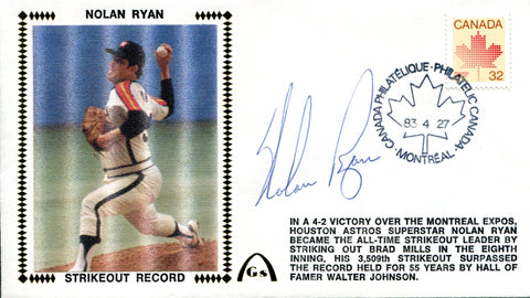 Nolan Ryan Autographed April 27, 1983 First Day Cover (JSA)