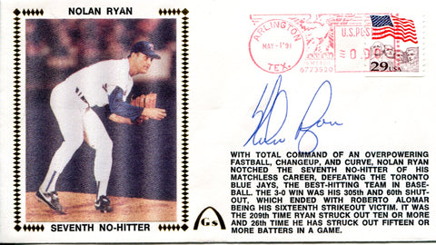 Nolan Ryan Autographed May 1, 1991 First Day Cover (JSA)