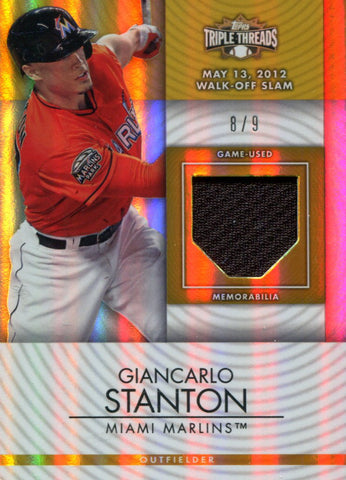 Giancarlo Stanton Topps Jersey Card #8/9