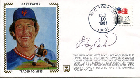Gary Carter Autographed Dec 10, 1984 First Day Cover (JSA)