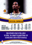 Kobe Bryant 1999 Topps Gold label Unsigned
