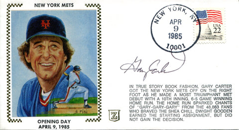 Gary Carter Autographed April 9, 1985 First Day Cover (JSA)
