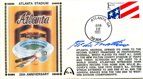 Eddie Mathews Autographed April  12, 1991 First Day Cover (JSA)