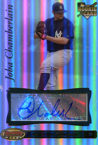 Joba Chamberlain Autographed Topps Rookie Card