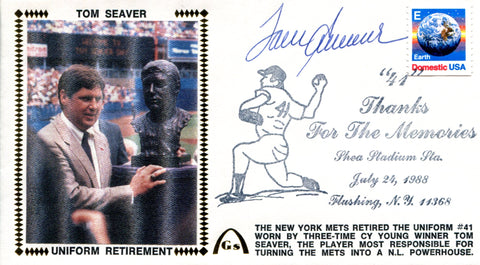 Tom Seaver Autographed July 24, 1988 First Day Cover (JSA)