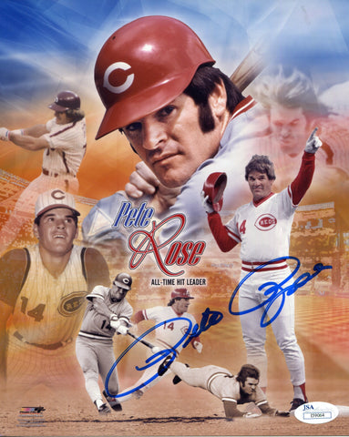 Pete Rose Autographed 8x10 Photo