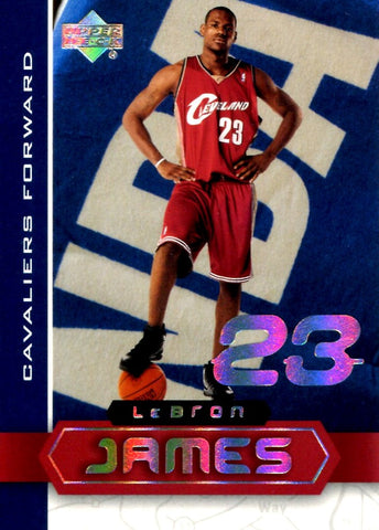 LeBron James 2003 Upper Deck Superstars Unsigned Rookie Year