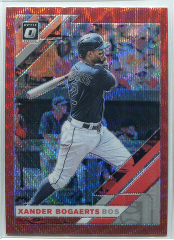 Xander Bogaerts 2019 Panini Donurss Optic Prizm Card