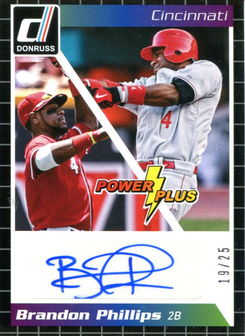 Brandon Phillips Autographed Panini Card #19/25