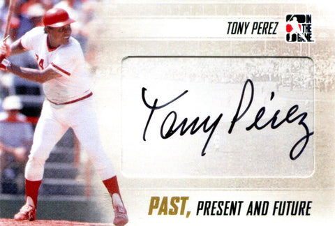 Tony Perez Autographed In The Game Card