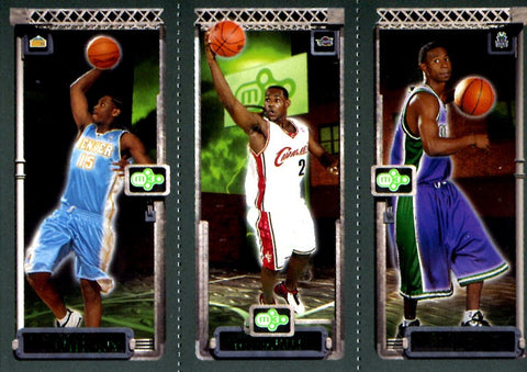 LeBron James, Carmelo Anthony, & T.J. Ford 2004 Topps Unsigned M3 Card