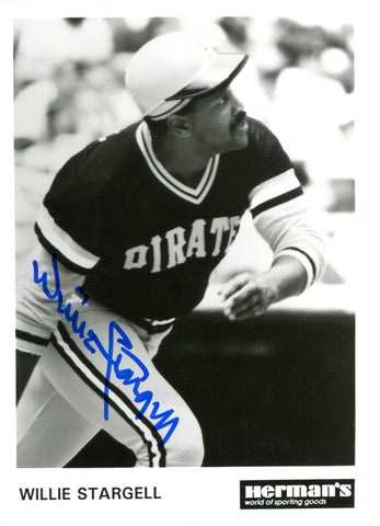 Willie Stargell Autographed 5x7 Photo (JSA)