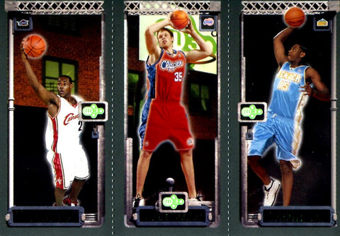 LeBron James, Carmelo Anthony, & Chris Kaman 2004 Topps Unsigned M3 Card