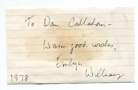 Emlyn Williams Autographed Cut (JSA)
