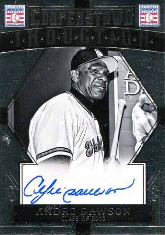 Andre Dawson Autographed Panini Card