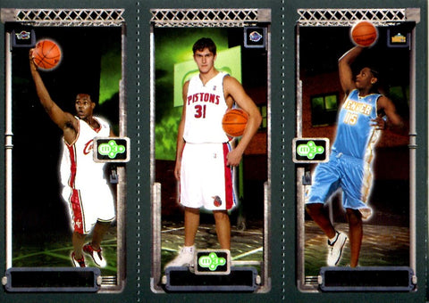 LeBron James, Carmelo Anthony, & Darko Milicic 2004 Topps Unsigned M3 Card