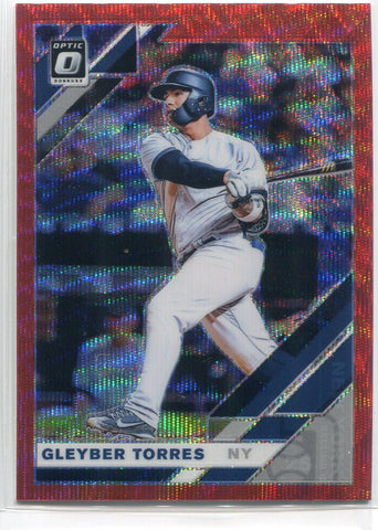 Gleyber Torres 2019 Panini Donurss Optic Prizm Card