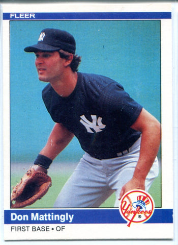 Don Mattingly 1984 Fleer Rookie Card #131