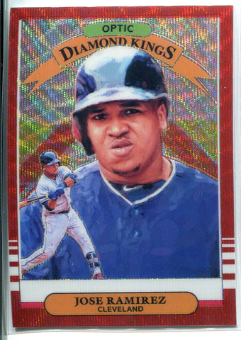 Jose Ramirez 2019 Panini Donurss Diamond Kings Optic Prizm Card