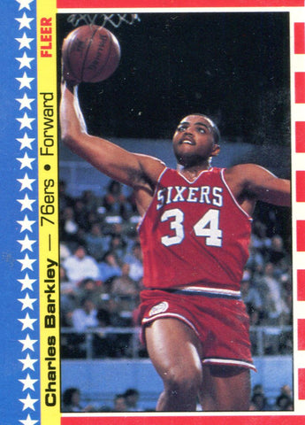 Charles Barkley Fleer Card