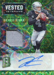 Derek Carr Autographed 2016 Panini Spectra Vested Veterans Jersey Card