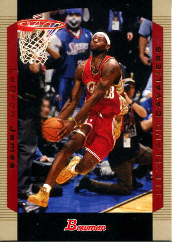 LeBron James 2004 Bowman Unsigned Card