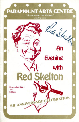 Red Skelton Autographed Program