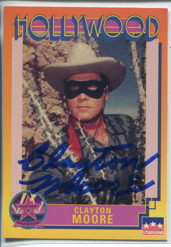 Clayton Moore Autographed 1991 Starline Hollywood Walk of Fame Card (JSA)