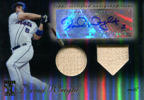 David Wright Autographed Topps Card #50/50