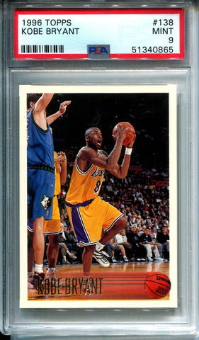 Kobe Bryant 1996 Topps Unsigned Card (PSA)