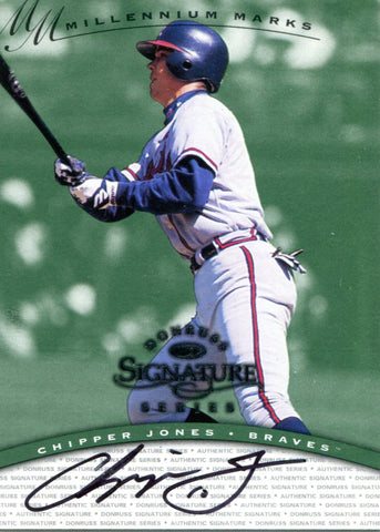 Chipper Jones Autographed Donruss Card #518