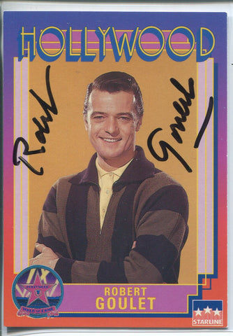 Robert Goulet Autographed 1991 Starline Hollywood Walk of Fame Card (JSA)