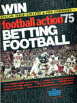 1975 Football Action Unsigned Program