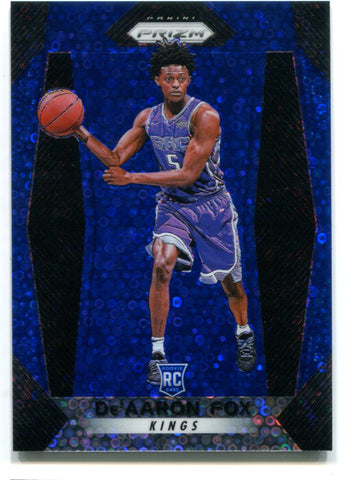 De'Aaron Fox 2017-18 Panini Prizm Fast Break Blue #24 (122/175)