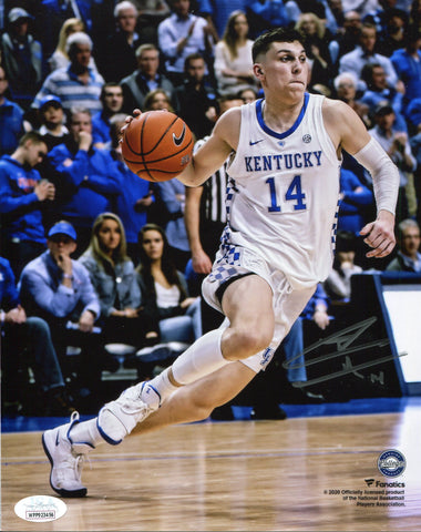 Tyler Herro Autographed Driving Kentucky 8x10 Photo (JSA)