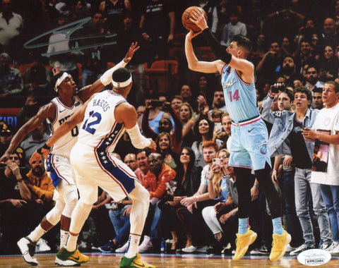 Tyler Herro Autographed Game Winning Shot 8x10 Photo (JSA)