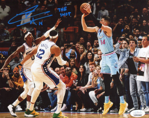"Tyler Herro ""The Shot"" Autographed Game Winning Three 8x10 Photo (JSA)"
