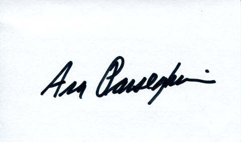 Ara Parseghian Autographed 3x5 Index Card