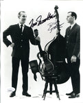 Tommy & Dick Smothers Autographed Black & White 8x10 Photo (JSA)