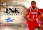 Aaron Brooks 2009-10 Upper Deck Ink Credible Autographed Card #83/399